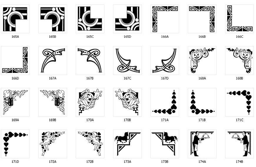 Decorative Corner Designs Page 3 The Sign Maker