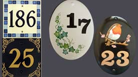 Hand Painted Ceramic Numbers