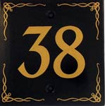 Townhouse Number Sign