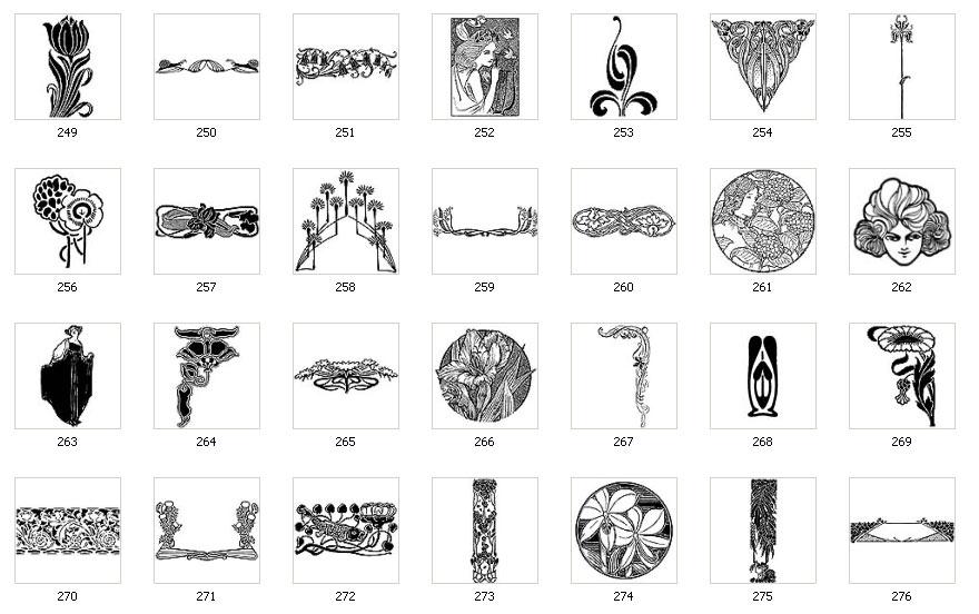 Art Nouveau Motifs And Images The Sign Maker