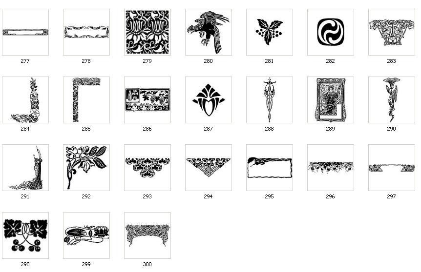 Art Nouveau Motifs and Images | The Sign Maker