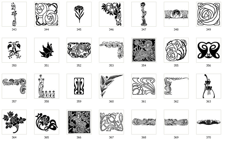 art nouveau designs and images page 3 the sign maker