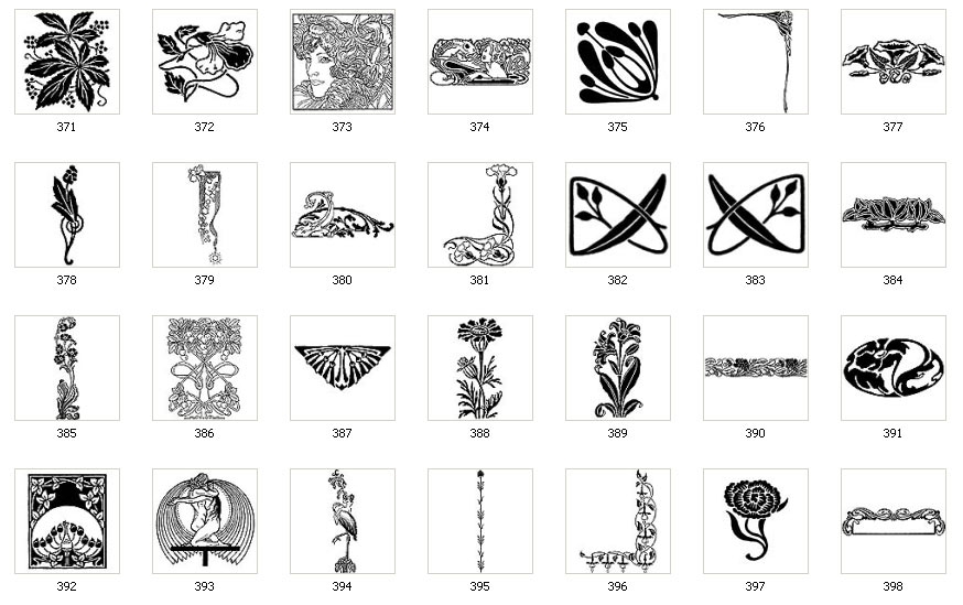 Art Nouveau Designs And Images Page 3