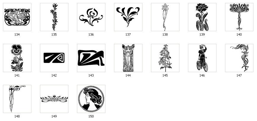 Art Nouveau Motifs and Images