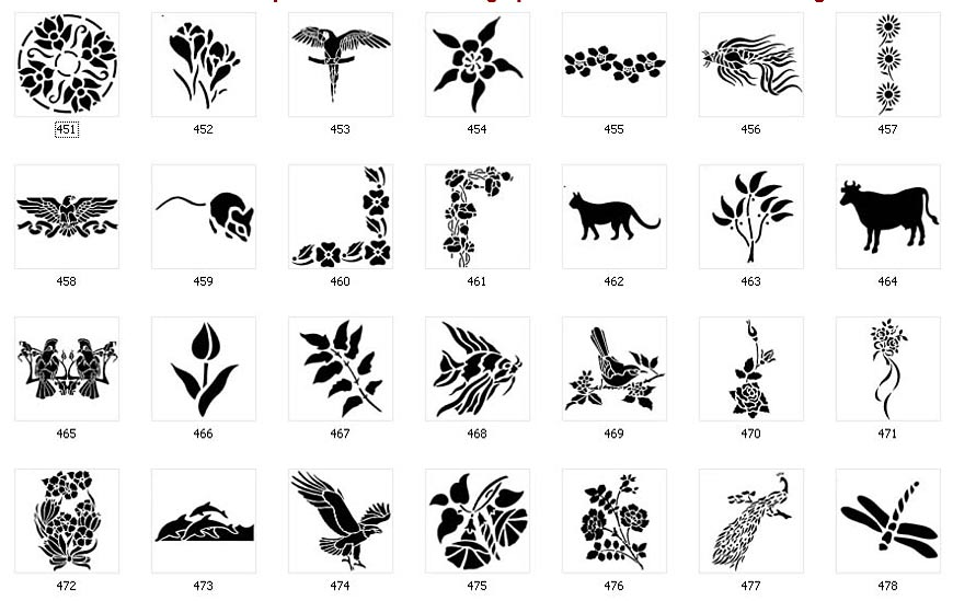 Nature Stencils Page 4 The Sign Maker