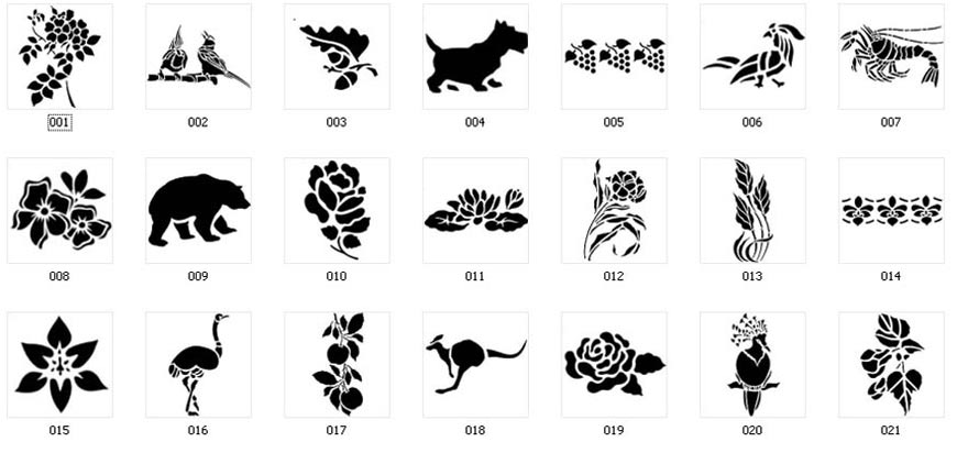 nature stencils for signs