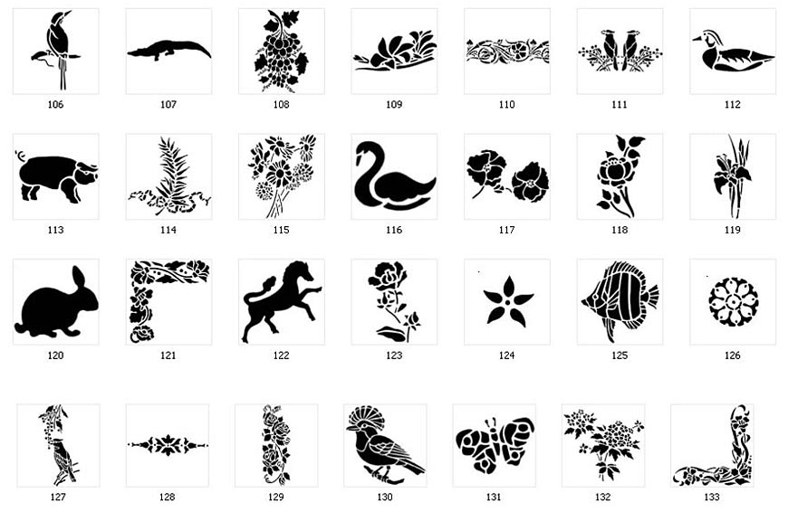 Nature Stencils For Signs The Sign Maker
