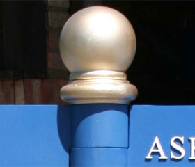 Cast Aluminium Ball Finial