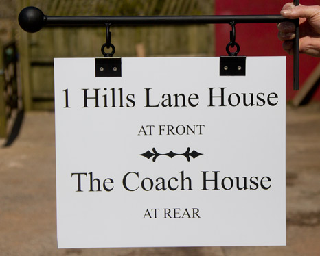 Fittings are available for hanging these sign boards if required