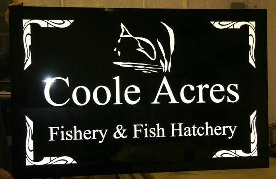 Reflective Sign Size 1000mm x 950mm on gloss black alumium composite. ref - 1107.SV.016