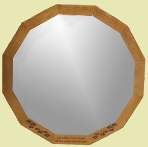 Wood Framed Mirror