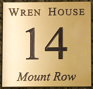 Laser Cut Metal Signs >> Engraved Brass House Signs and Nameplates   The Sign Maker