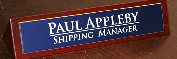 Desk Name Sign Sizes And Prices The Price Includes Up To 50 Characters Per Plate Extra Are Available At 3