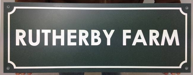 Engraved Corian Farm Sign