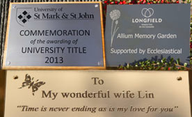 Engraved plaques in a large varitey of materials