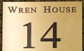 Engraved brass name plates with or without extra wording