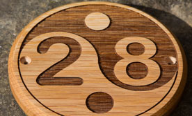 Wooden door numbers - Roumd or Oval