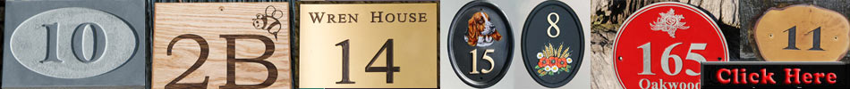 Lots more house number signs and door numbers