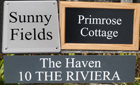 Click here for a huge range of house signs