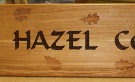 Wooden  Signs made in our workshops
