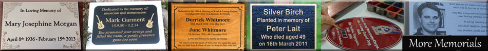 Click here to see our full range of memorials and memorial plaques