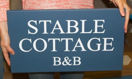 Painted Sign - Size 500mm x 300mm - Colour StiffKey Blue