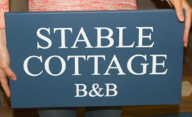 Painted Business and House Signs in many colours