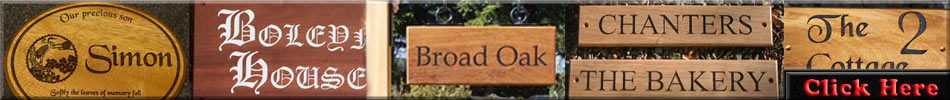 Click here to see all our wooden signs