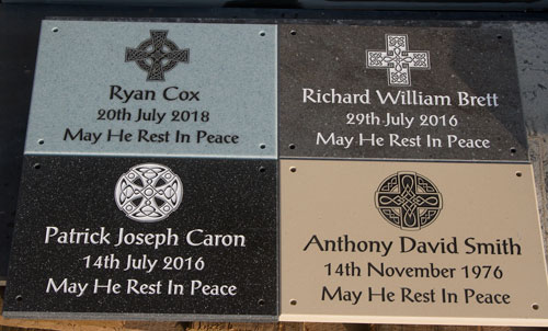 Corian Plaques with 4 different celtic crosses