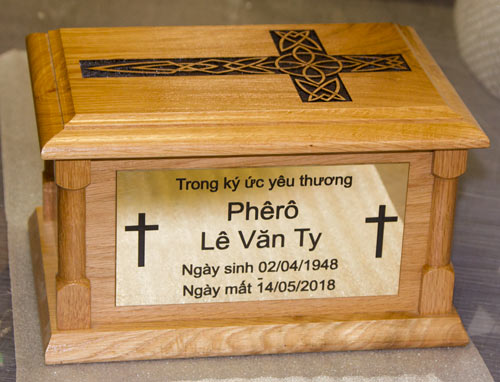 Wooden Ashes Casket