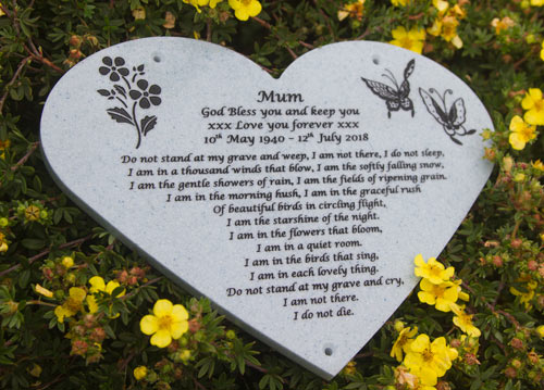 Poem on Corian Heart Memorial 1807.se.051