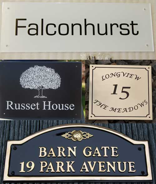 See the whole range of home and house signs.