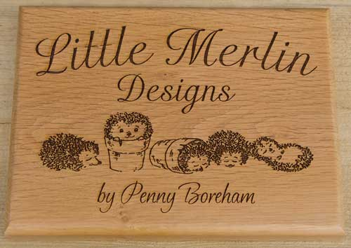 Wooden sign with detailed artwork