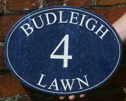 Oval Corian House Sign