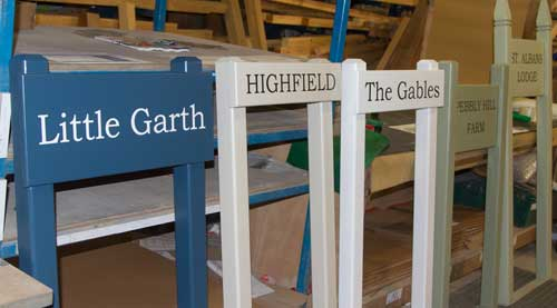 Painted Wooden Entrance Signs