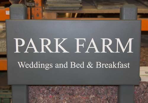 Painted Farm Sign