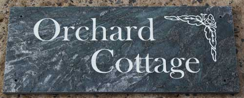 Silver Nickel Slate House Sign