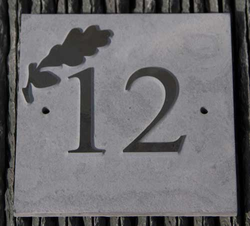 Slate house number with raised letters