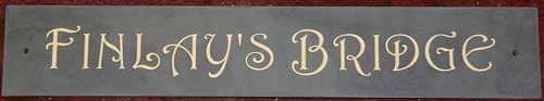 Standard slate sign with cream letters