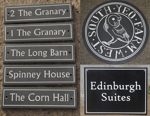 See the whole range of stone, granite and slate signs.