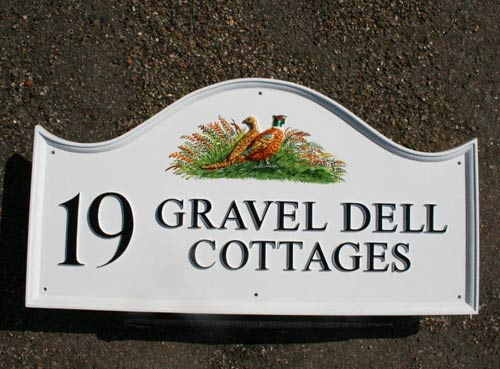 Hand painted home sign in top quality cast polyurethane