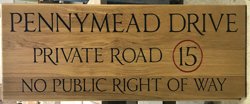 Large Oak Sign for drive - 1808.LW.041