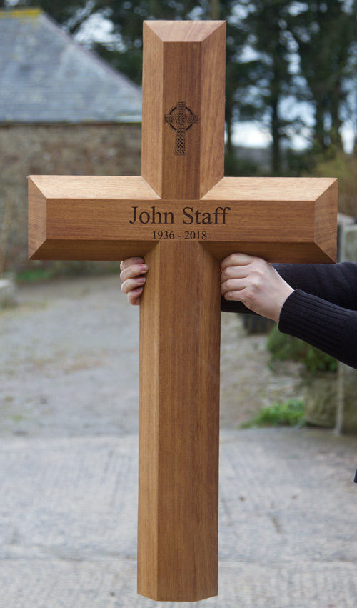 Large wooden memorial cross