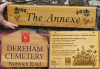 Selection of Images and ideas to help you decide on your wooden sign or memorial