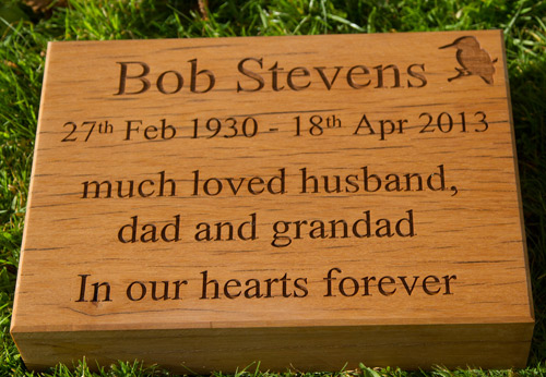 Solid Wooden Memorial Tablet