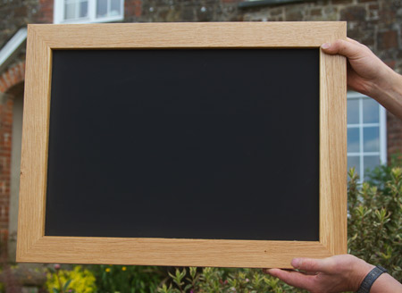 Blackboard for outdoor use