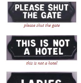 Gifts Cast Metal Signs Beware Of The Dog Shut The