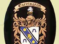Coat of arms on house sign or name plate