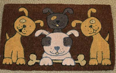 Dog Family Door Mat