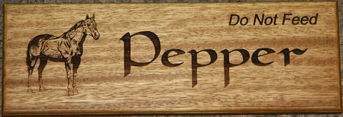 Oak Stable Door Sign